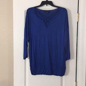 Pretty royal blue blouse.